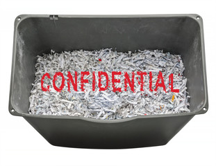 Shredded confidential information