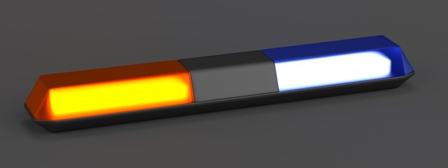 realistic 3d render of warning lights