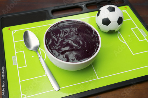 Bowl of Acai Brazilian Football Tactics Board