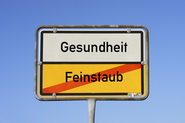 Schild Gesundheit © Matthias Buehner