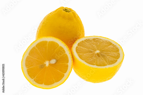 fresh lemon isolated