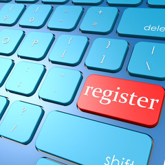 Register keyboard