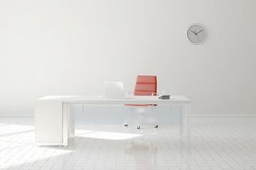 Büro mit Schreibtisch und Computer