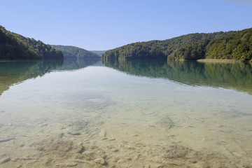 Lake in Plitvice Lakes National Park in Croatia