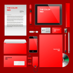 Red Corporate ID mockup