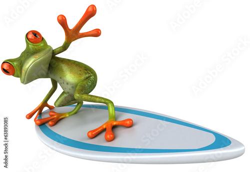 Leinwandbild Motiv Fun frog