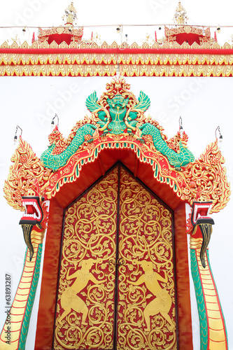 big beauty door art in Thailand temple