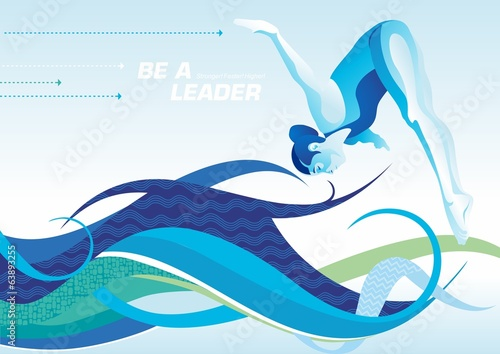 be a leader_swimming