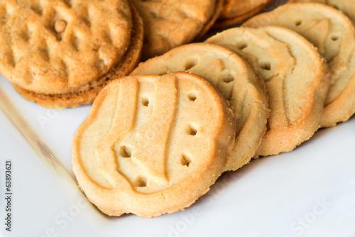 Plexiglas Koekjes Close up of Girl Scout cookies
