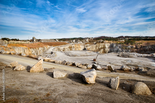 Rock quarry scene in Georgia