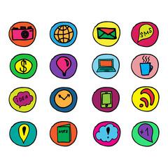 Набор иконок. Социальные медиа, интернет