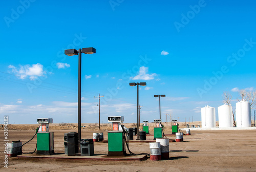 Generic service / gas station in remote rural area