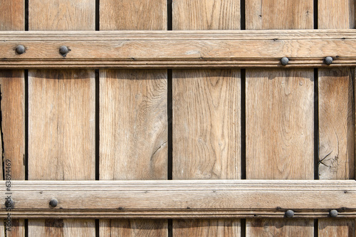 Background of horizontal light brown wooden planks