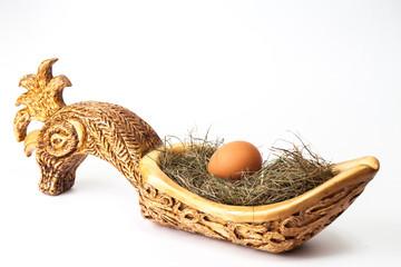 bucket, egg