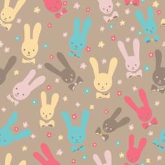 cute seamless rabbits