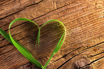 Blade of grass as heart