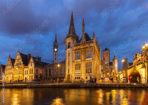 Old Buildings With Canal, Ghent