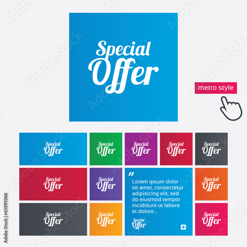 Special offer sign icon. Sale symbol.