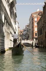 View Rio de Palazzo o de Canonica of the gondola. Venice. Italy