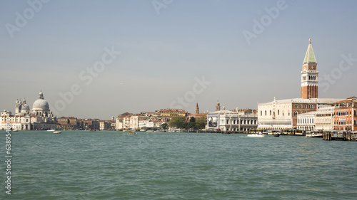 View of the Piazza San Marco from the boat. Venice. Italy