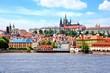 View towards Prague Castle, Czech Republic