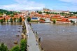 Aerial view of Prague Castle with Charles Bridge