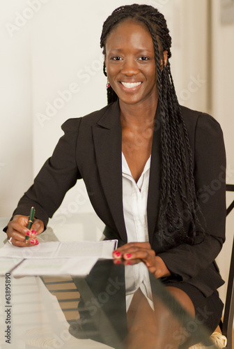 Smiling African Businesswoman