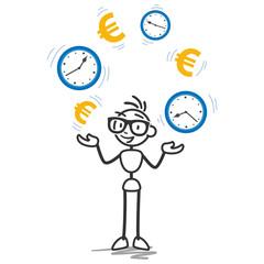 Strichmännchen, Zeit ist Geld, Produktivität