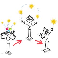 Strichmännchen, Ideenentwicklung, Denkprozess