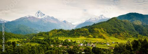 Tuinposter Nepal Annapura Panorama, from near Pokhara
