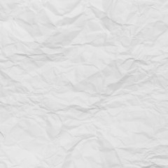 White crumpled paper abstract