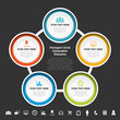 Pentagon Circle Infographic Elements
