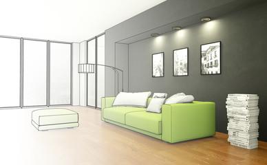 Entwurf modernes Wohnzimmer