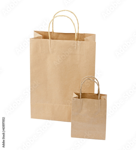 Empty Shopping Bag from craft pape
