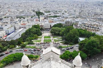 Paris as seen from the Basilica of the Sacré Cœur, Montmartre.