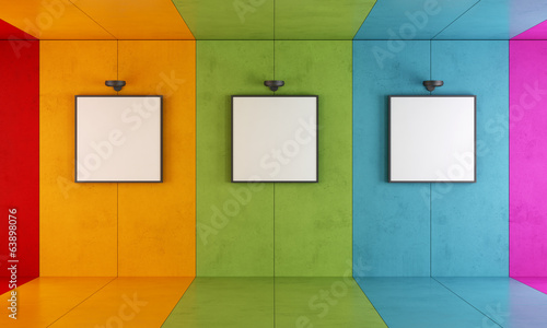 Colorful modern art gallery - 63898076