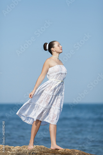 Girl at the sea