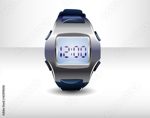 Sport watch. Illustration 10 version.