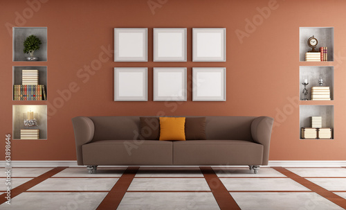 Modern sofa in a elegant interio