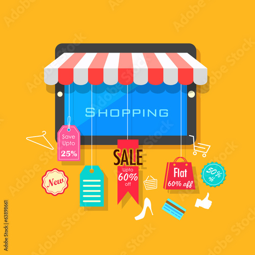 Online Shopping and Sale concept