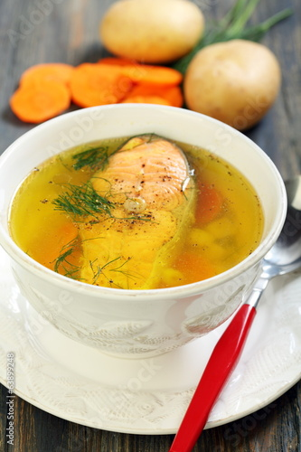 Soup with trout.