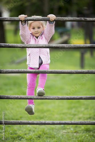 Cute little girl at playground
