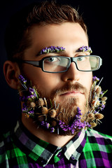 flowers in beard