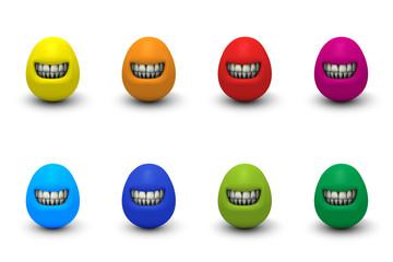 Grinsende Eier