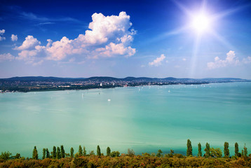 Landscape from Tihany to Lake Balaton, Hungary