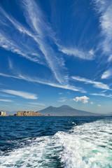 Naples bay and mount Vesuvius