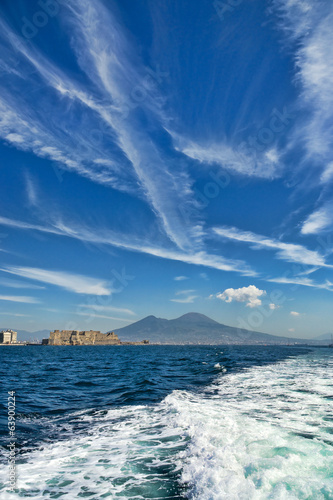 Naples bay and mount Vesuvius
