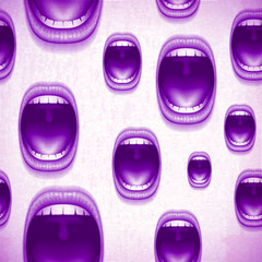 mouth vintage violet background