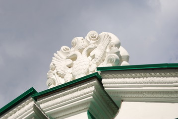 Faceted Chamber detail in Moscow Kremlin. UNESCO Heritage.
