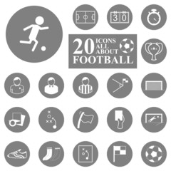 20 Icons all about football/soccer set.